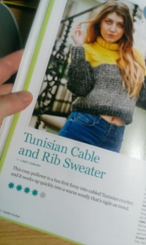 My Tunisian Sweater in Inside Crochet March 2014